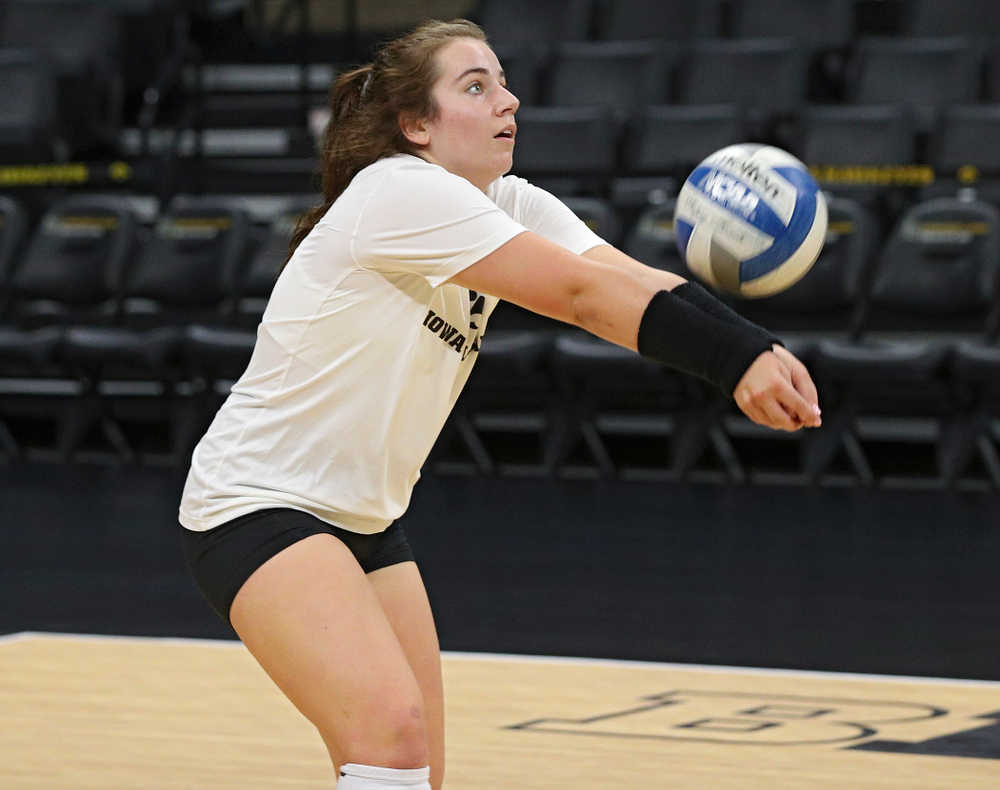 Iowa's Emma Lowes (6) during Iowa Volleyball's Media Day at Carver-Hawkeye Arena in Iowa City on Friday, Aug 23, 2019. (Stephen Mally/hawkeyesports.com)