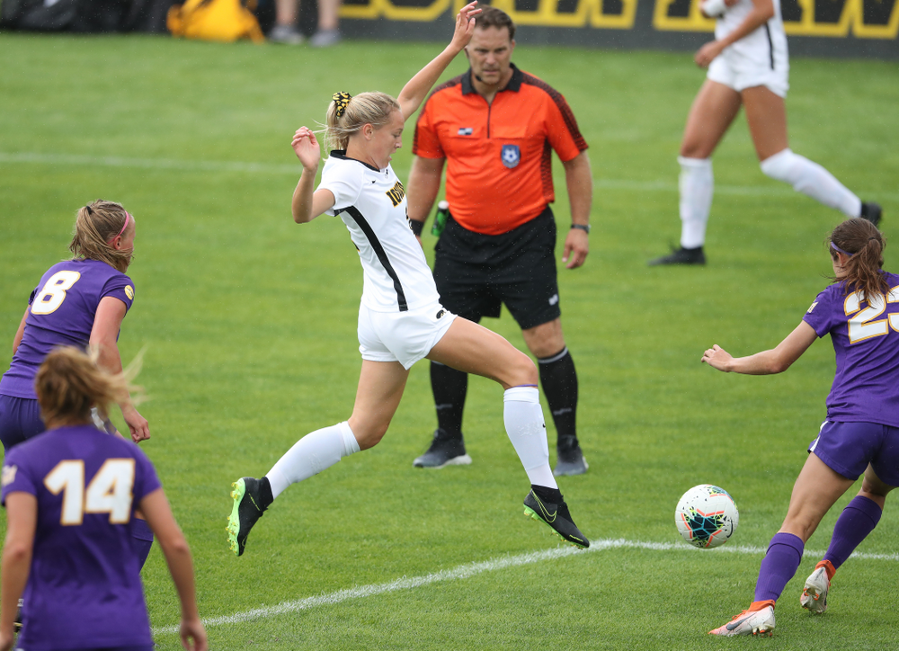 Iowa Hawkeyes midfielder Hailey Rydberg (2) during a 6-1 win over Northern Iowa Sunday, August 25, 2019 at the Iowa Soccer Complex. (Brian Ray/hawkeyesports.com)