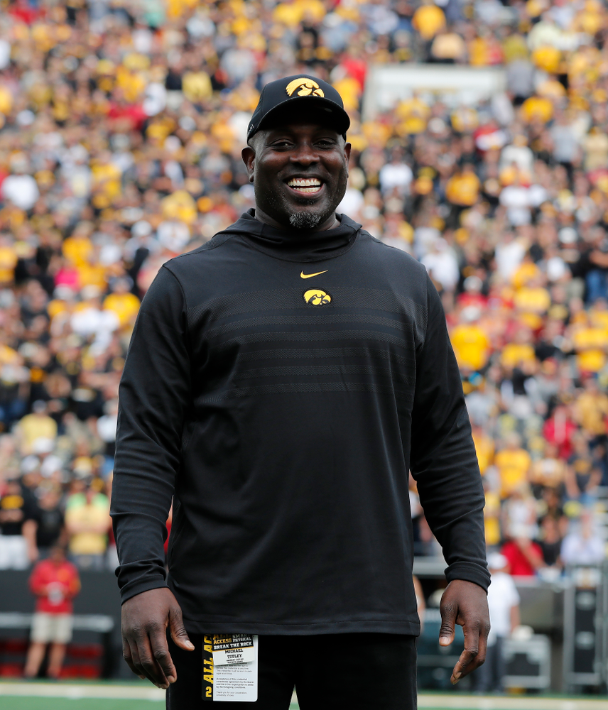 Honorary Captain Michael Titley before the Iowa Hawkeyes game against against the Iowa State Cyclones Saturday, September 8, 2018 at Kinnick Stadium. (Brian Ray/hawkeyesports.com)
