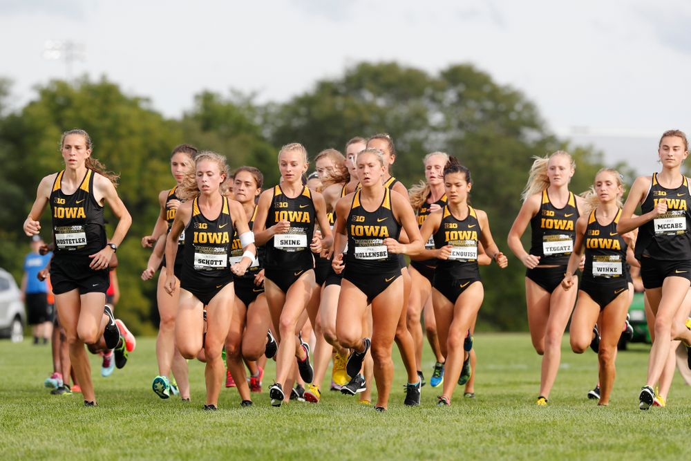 The Iowa Hawkeyes during the Hawkeye Invitational Friday, August 31, 2018 at the Ashton Cross Country Course.  (Brian Ray/hawkeyesports.com)