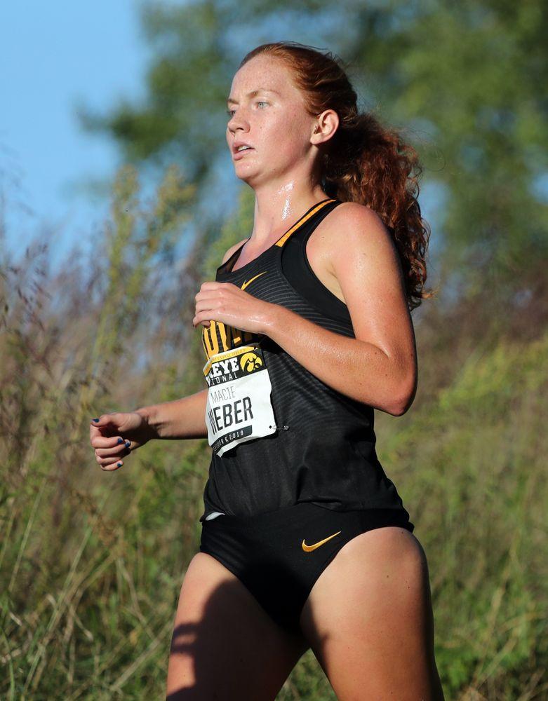 IowaÕs Macie Weber runs in the 2019 Hawkeye Invitational Friday, September 6, 2019 at the Ashton Cross Country Course. (Brian Ray/hawkeyesports.com)