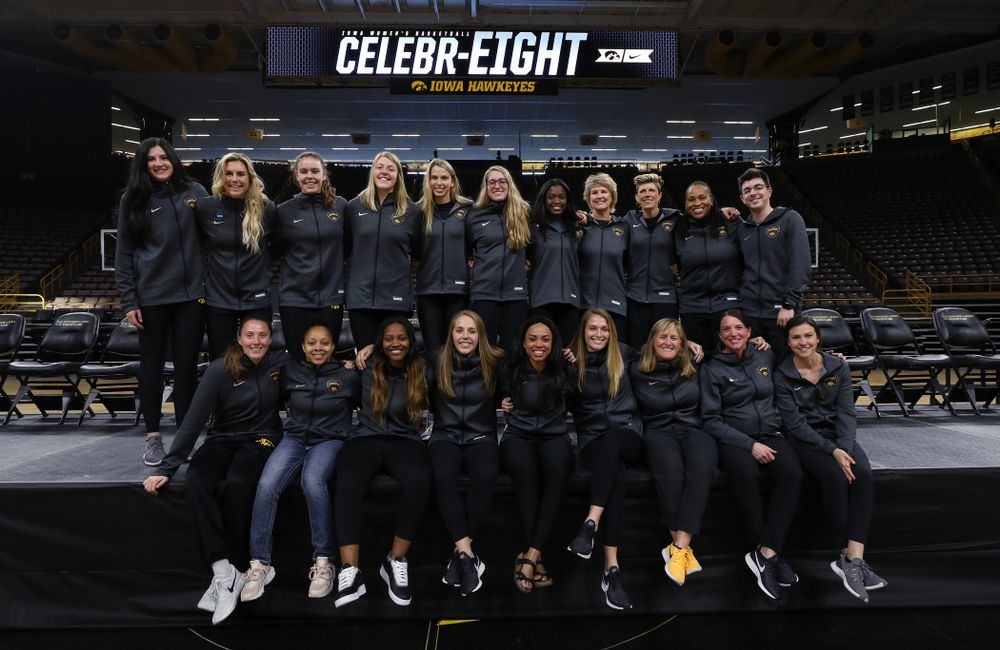 The 2018-2019 Iowa WomenÕs Basketball team during their Celebr-Eight event Wednesday, April 24, 2019 at Carver-Hawkeye Arena. (Brian Ray/hawkeyesports.com)