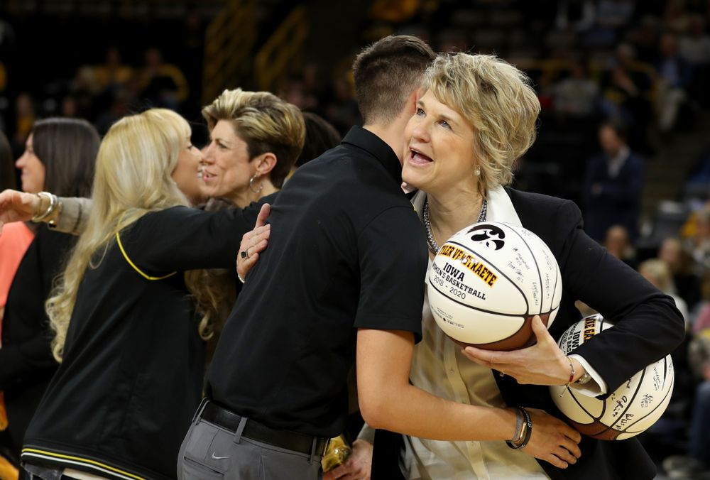 Iowa Women's Basketball manager Tyler Verstraete during senior day activities following their win over the Minnesota Golden Gophers Thursday, February 27, 2020 at Carver-Hawkeye Arena. (Brian Ray/hawkeyesports.com)