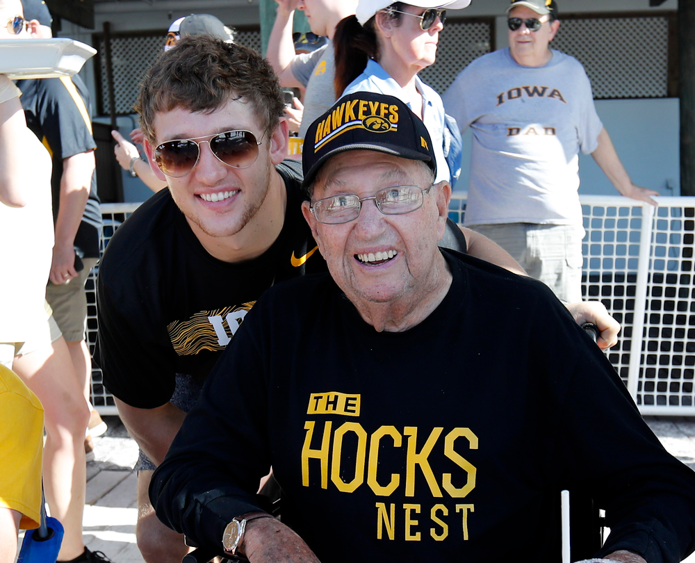 T.J. Hockenson and his grandfathder