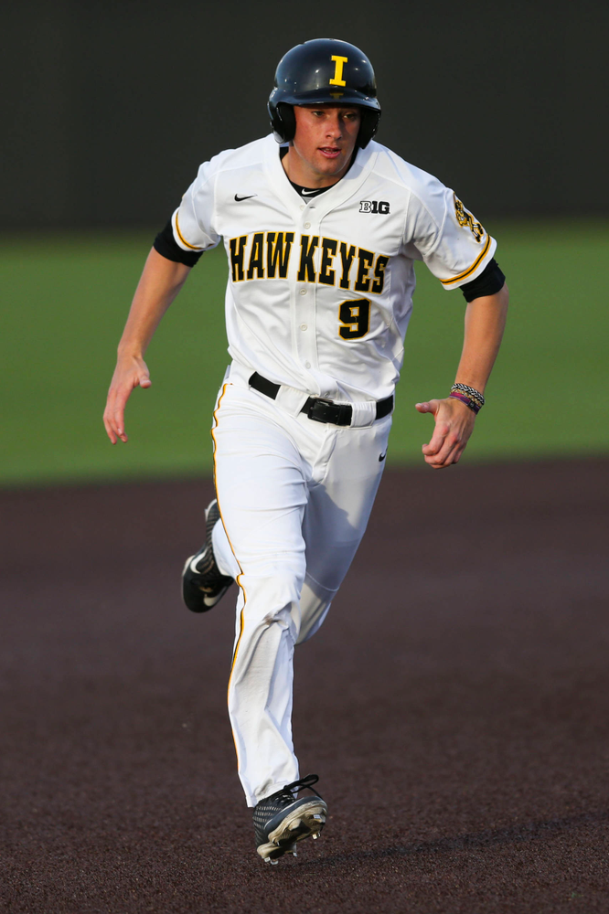 Iowa outfielder Ben Norman  at baseball vs Milwaukee on Tuesday, April 23, 2019 at Duane Banks Field. (Lily Smith/hawkeyesports.com)