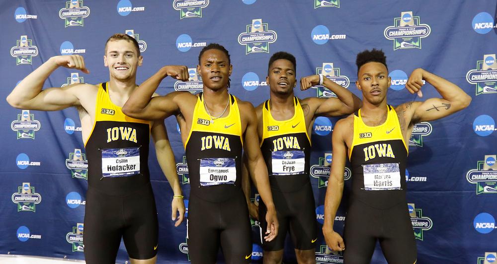 Collin Hofacker, Emmanuel Ogwo, DeJuan Frye, Mar'yea Harris -- 4x400 relay