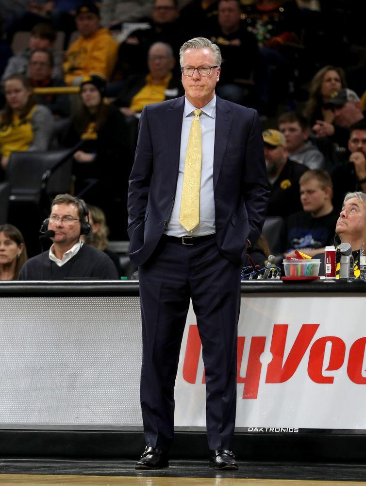 Iowa Hawkeyes head coach Fran McCaffery against the Minnesota Golden Gophers Monday, December 9, 2019 at Carver-Hawkeye Arena. (Brian Ray/hawkeyesports.com)