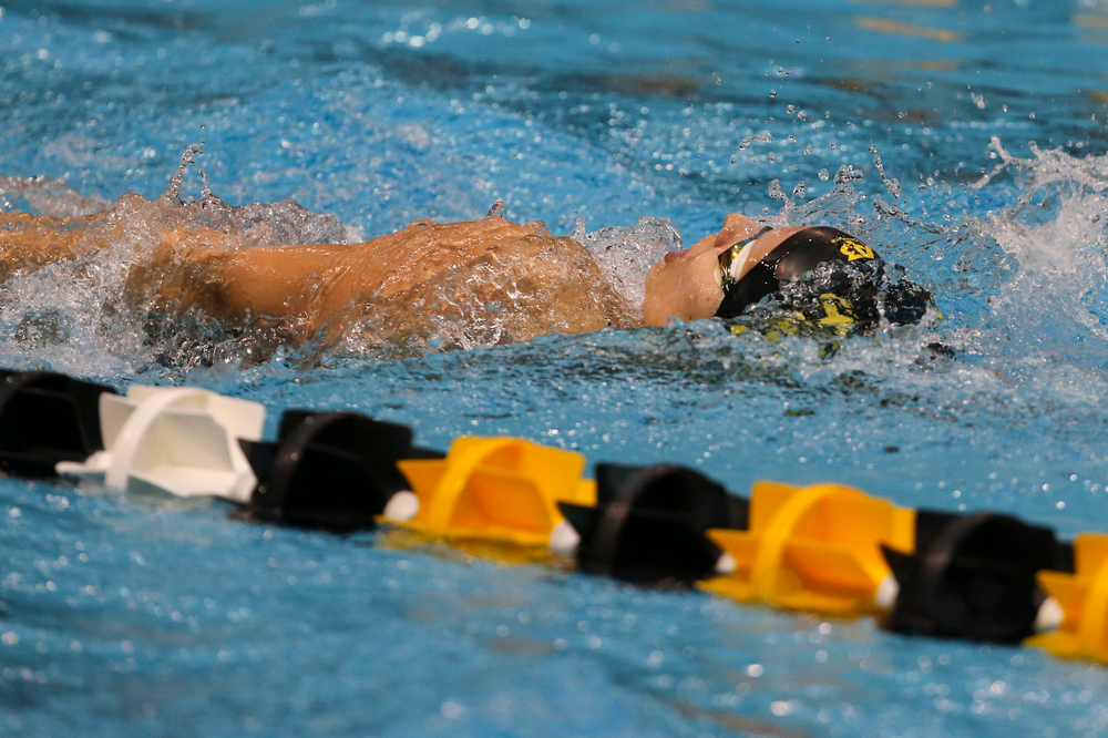 Iowa's Julia Koluch during Iowa swim and dive vs Minnesota on Saturday, October 26, 2019 at the Campus Wellness and Recreation Center. (Lily Smith/hawkeyesports.com)