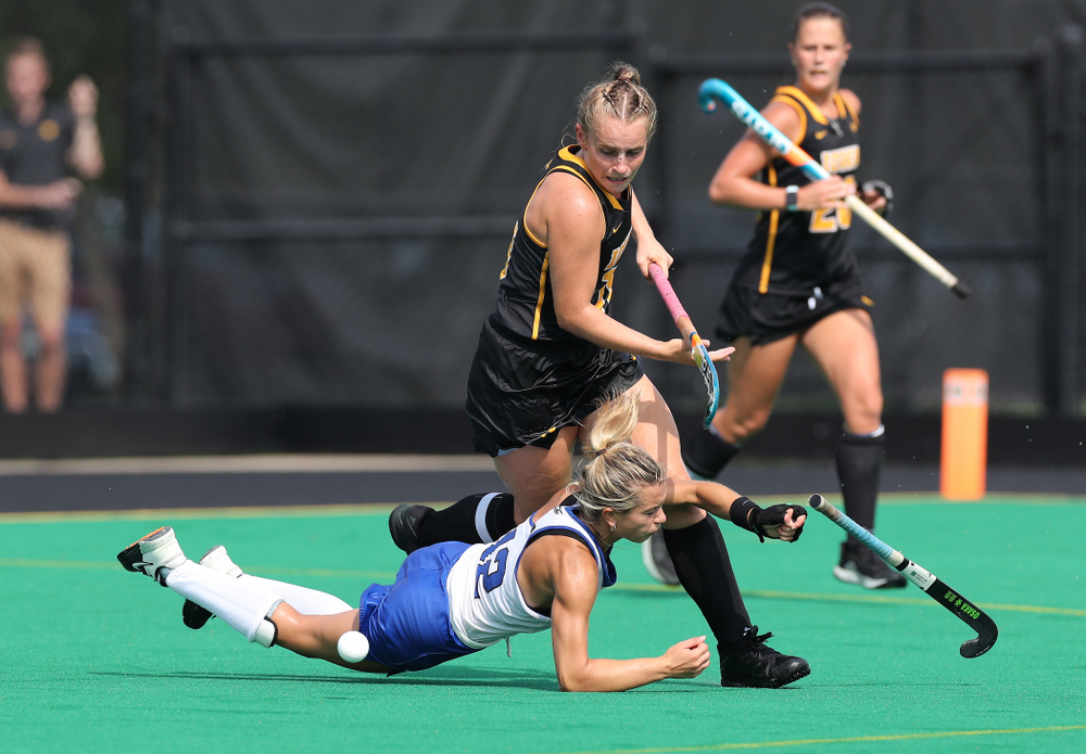 Iowa Hawkeyes Katie Birch (11) against the Duke Blue Devils Sunday, September 15, 2019 at Grant Field.  (Brian Ray/hawkeyesports.com)