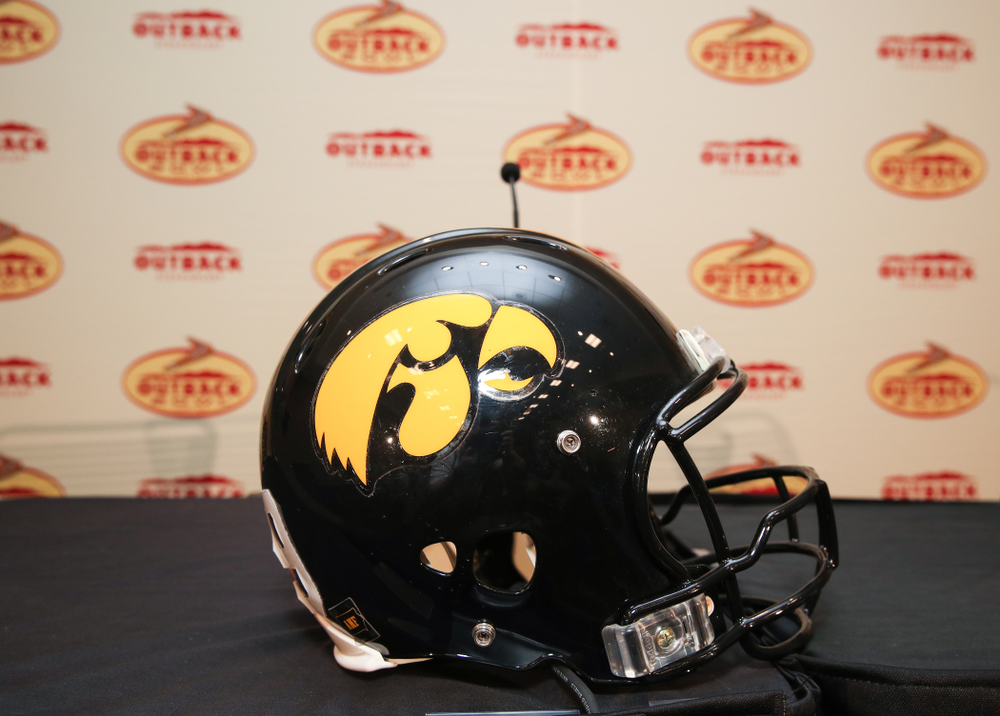 The Outback Bowl coach's press conference Saturday, December 29, 2018 in Tampa, FL. (Brian Ray/hawkeyesports.com)