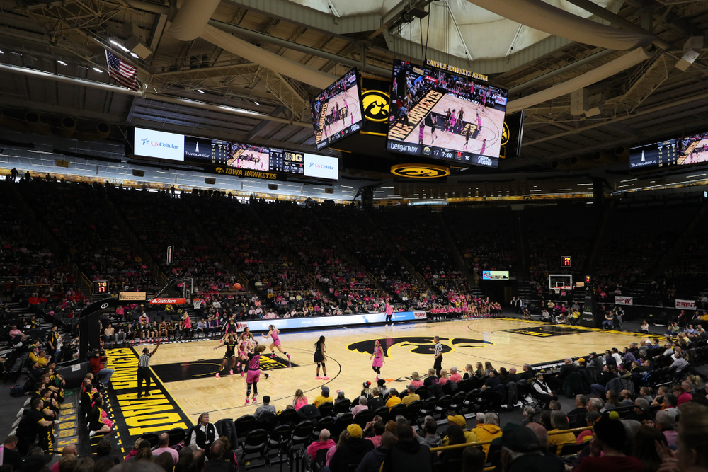 The Iowa Hawkeyes against the seventh ranked Maryland Terrapins Sunday, February 17, 2019 at Carver-Hawkeye Arena. (Brian Ray/hawkeyesports.com)