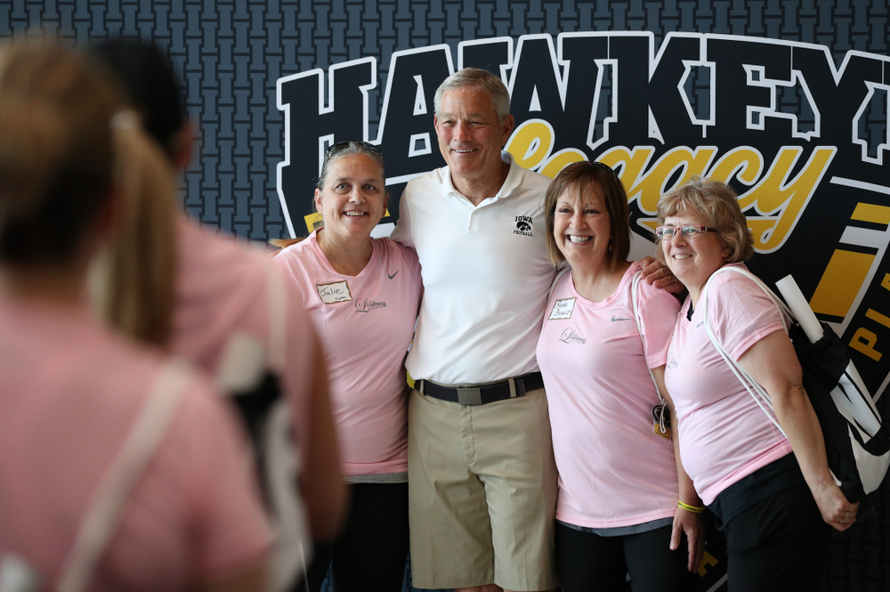 Iowa Hawkeyes head coach Kirk Ferentz during the 2019 Iowa Ladies Football Academy Saturday, June 8, 2019 at the Hansen Football Performance Center. (Brian Ray/hawkeyesports.com)