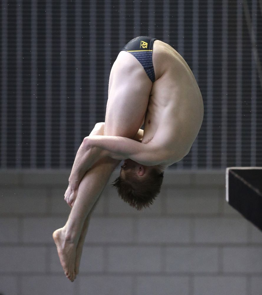 Iowa's Will Brenner competes on the 3-meter springboard during the third day of the 2019 Big Ten Swimming and Diving Championships Thursday, February 28, 2019 at the Campus Wellness and Recreation Center. (Brian Ray/hawkeyesports.com)