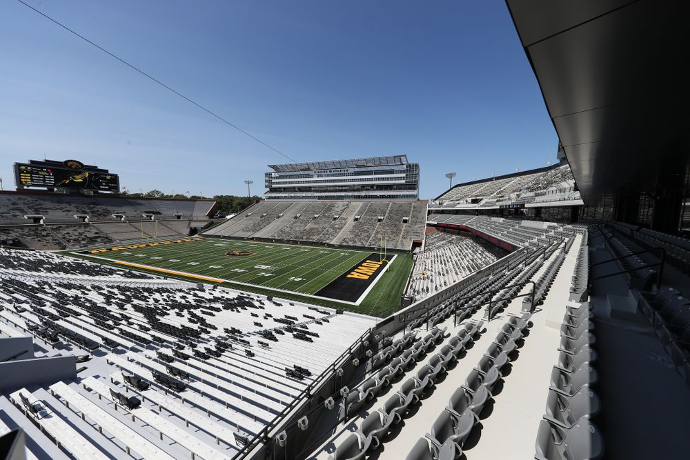 The view from the club level in the new north end zone of Kinnick Stadium Friday, August 9, 2019. (Brian Ray/hawkeyesports.com)