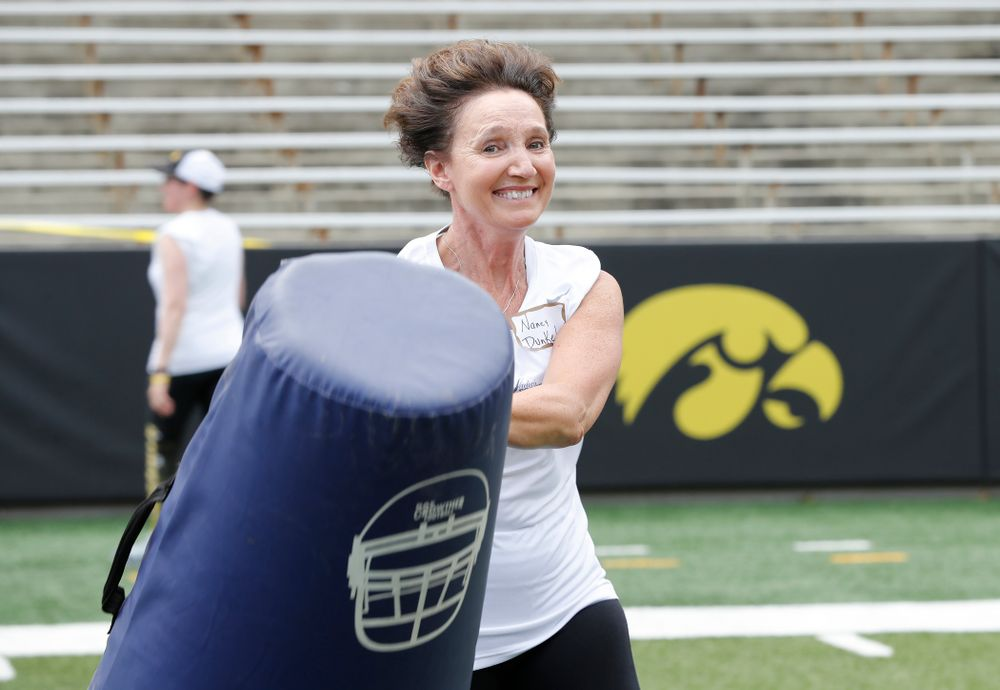Board of Regents State of Iowa member Nancy Dunkel during the 2018 Iowa Ladies Football Academy  Saturday, June 9, 2018 at Kinnick Stadium. (Brian Ray/hawkeyesports.com)