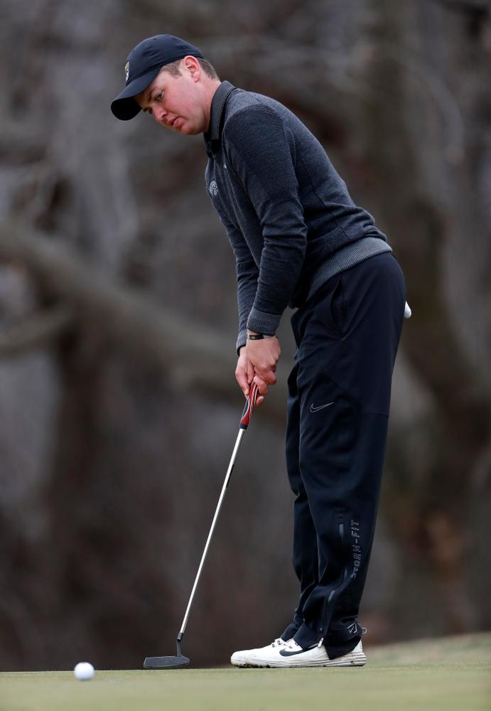 Matthew Walker during the 2018 Hawkeye Invitational  Friday, April 13, 2018 at Finkbine Golf Course. (Brian Ray/hawkeyesports.com)