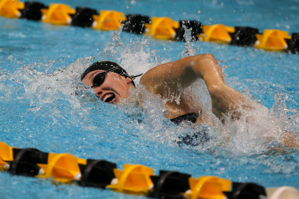 Iowa's Samantha Sauer during Iowa swim and dive vs Minnesota on Saturday, October 26, 2019 at the Campus Wellness and Recreation Center. (Lily Smith/hawkeyesports.com)