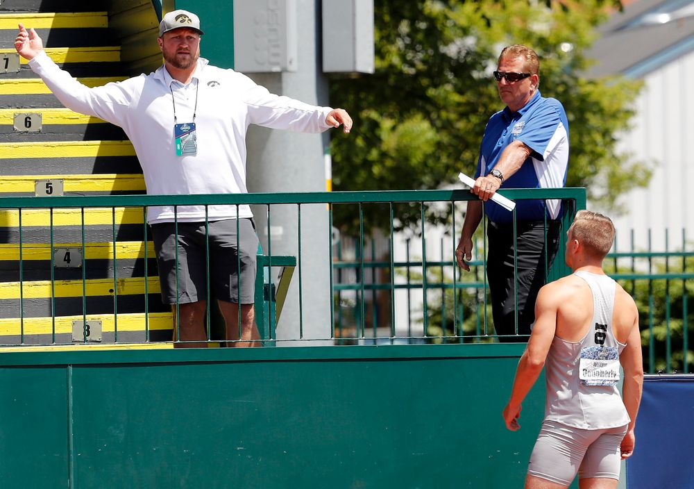 Coach Eric Werskey, William Dougherty, Dec javelin
