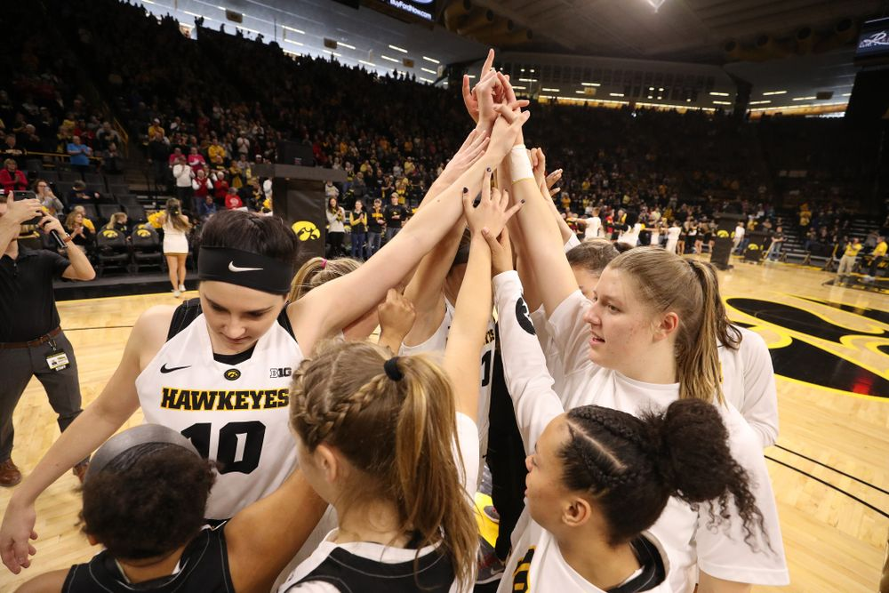 The Iowa Hawkeyes before their game against the Purdue Boilermakers Sunday, January 27, 2019 at Carver-Hawkeye Arena. (Brian Ray/hawkeyesports.com)