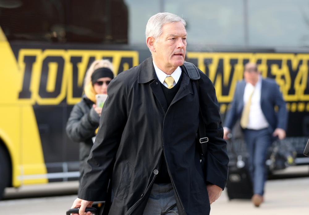 Iowa Hawkeyes head coach Kirk Ferentz against the Illinois Fighting Illini Saturday, November 23, 2019 at Kinnick Stadium. (Brian Ray/hawkeyesports.com)