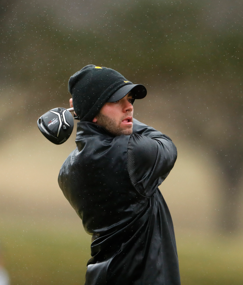 Iowa's Jack Simpson during day two of the 2018 Hawkeye Invitational Friday, April 13, 2018 at Finkbine Golf Course. (Brian Ray/hawkeyesports.com)