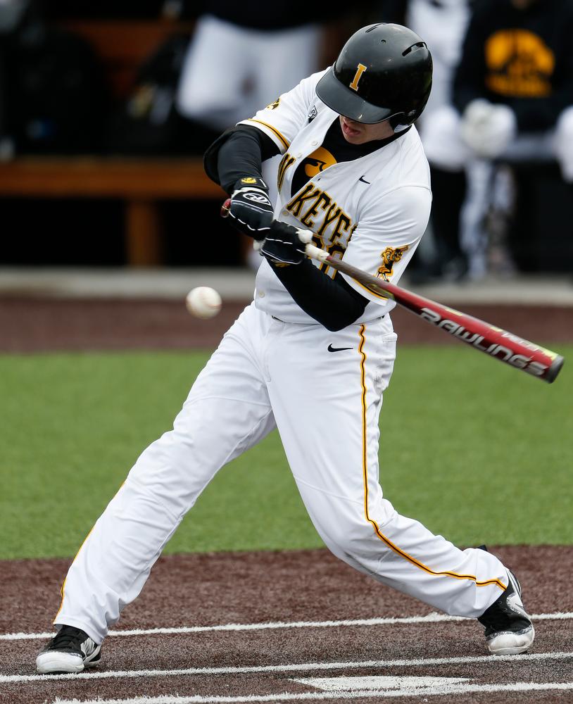 Iowa Hawkeyes infielder Austin Guzzo (20)