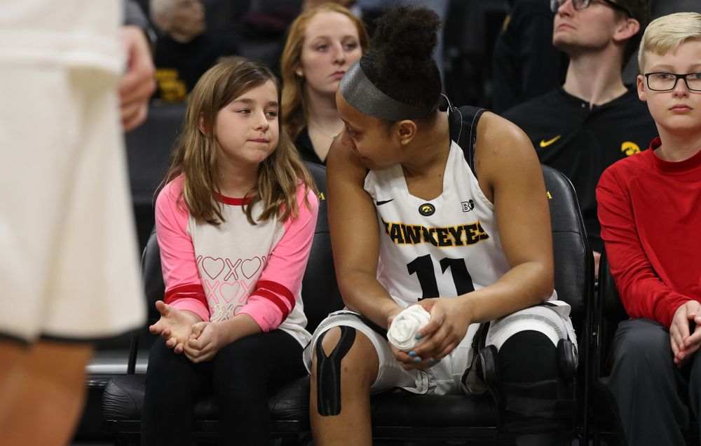 Iowa Hawkeyes guard Tania Davis (11) against the Purdue Boilermakers Sunday, January 27, 2019 at Carver-Hawkeye Arena. (Brian Ray/hawkeyesports.com)