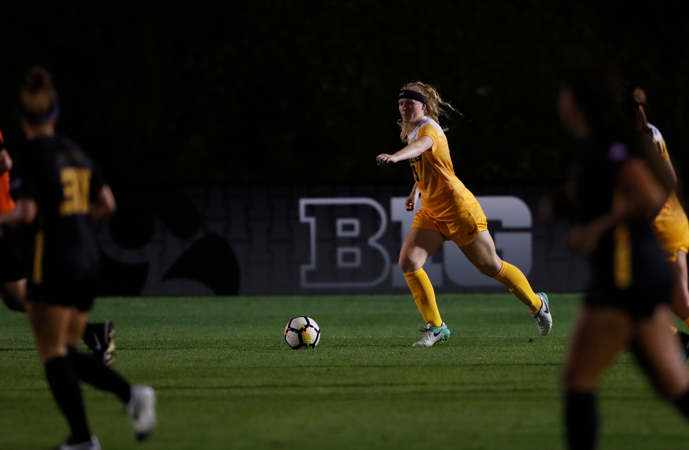 Iowa Hawkeyes Morgan Kemmerling (3) against the Missouri Tigers Friday, August 17, 2018 at the Iowa Soccer Complex. (Brian Ray/hawkeyesports.com)
