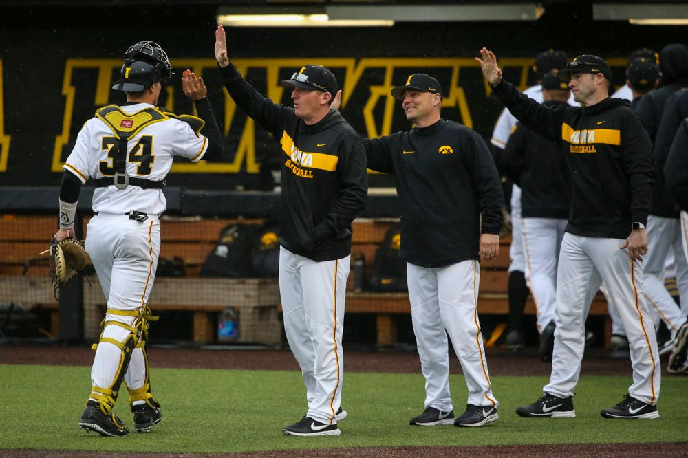 The Iowa baseball team at game 1 vs Illinois on Friday, March 29, 2019 at Duane Banks Field. (Lily Smith/hawkeyesports.com)
