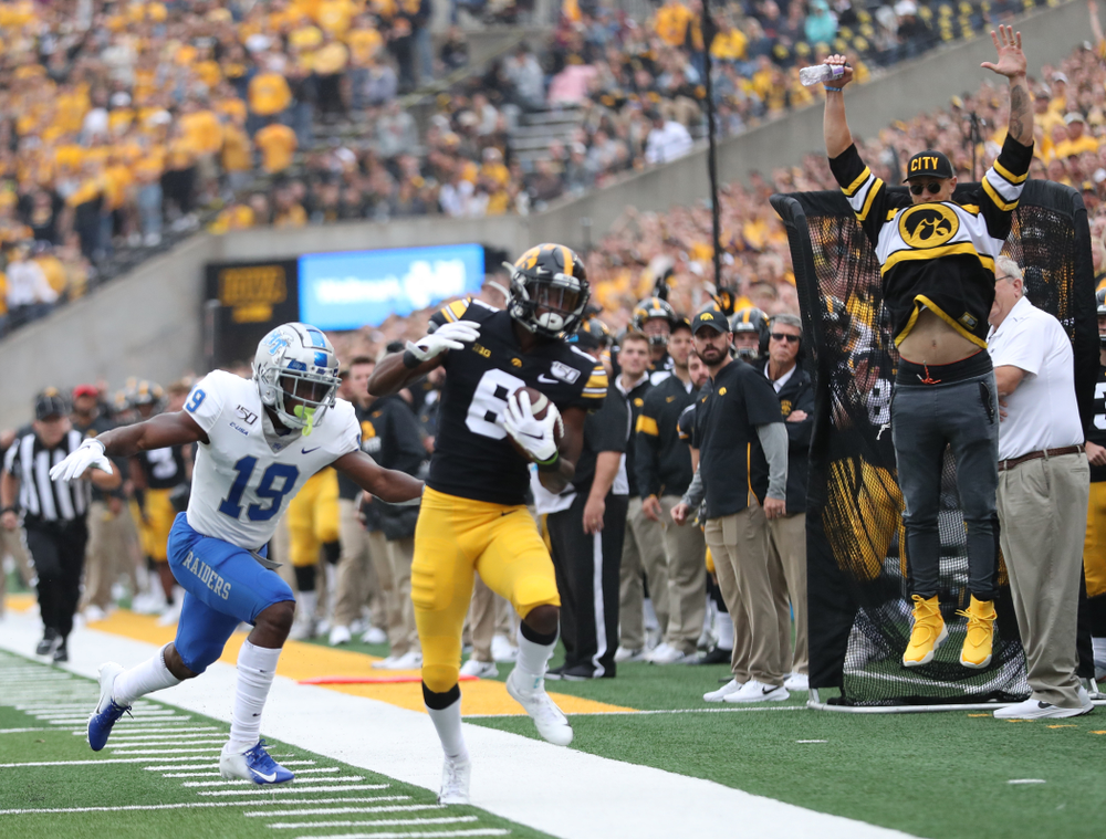George Kittle against Middle Tennessee State Saturday, September 28, 2019 at Kinnick Stadium. (Max Allen/hawkeyesports.com)