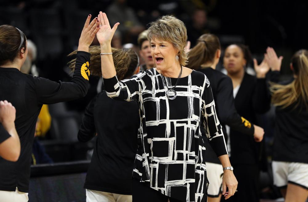 Iowa Hawkeyes head coach Lisa Bluder against North Alabama Thursday, November 14, 2019 at Carver-Hawkeye Arena. (Brian Ray/hawkeyesports.com)