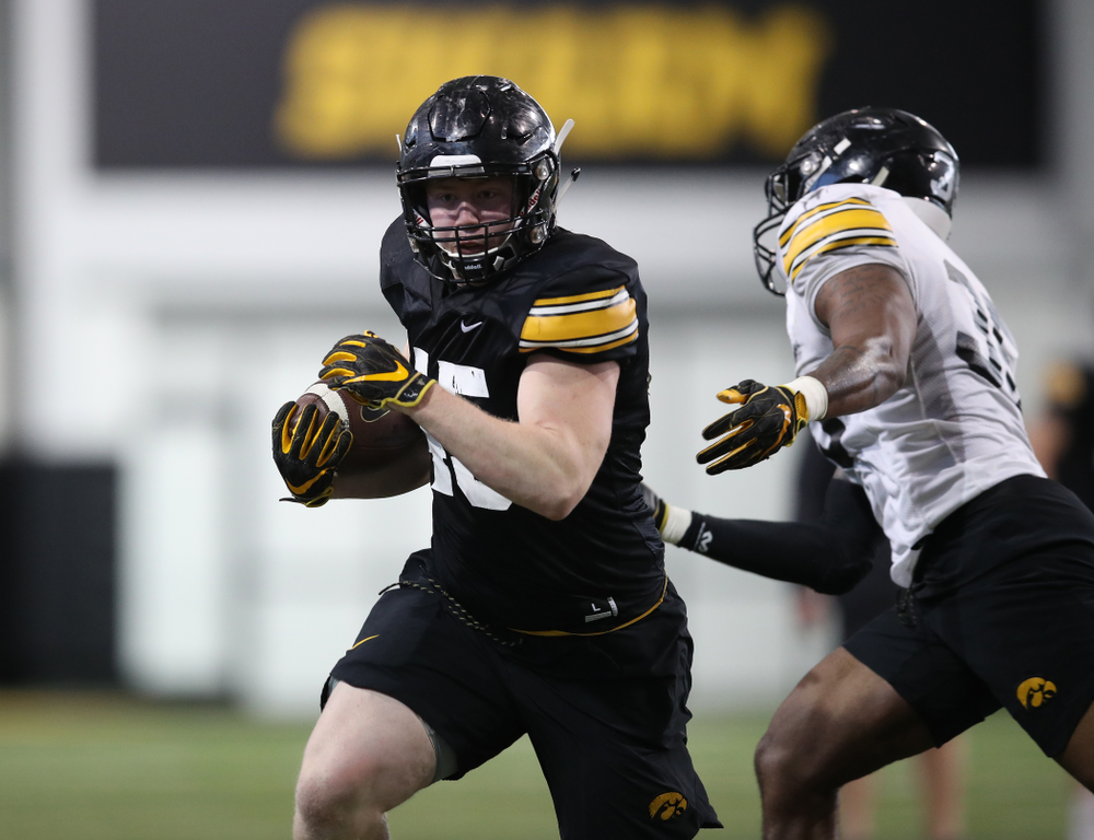 Iowa Hawkeyes fullback Joe Ludwig (45) during preparation for the 2019 Outback Bowl Monday, December 17, 2018 at the Hansen Football Performance Center. (Brian Ray/hawkeyesports.com)