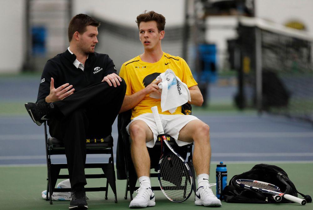 Assistant coach Matt Hagan and Piotr Smietana