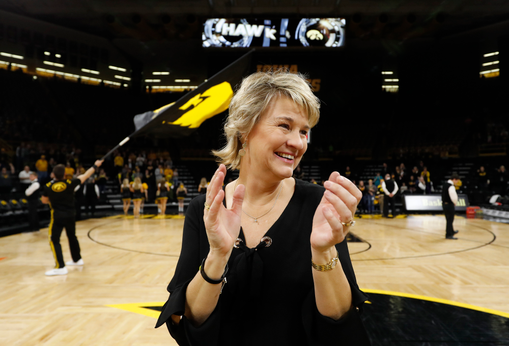 Iowa Hawkeyes head coach Lisa Bluder