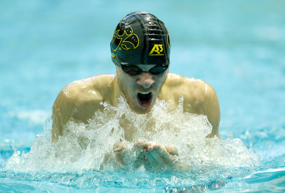 Tanner Nelson Competes in the 200 yard breaststroke