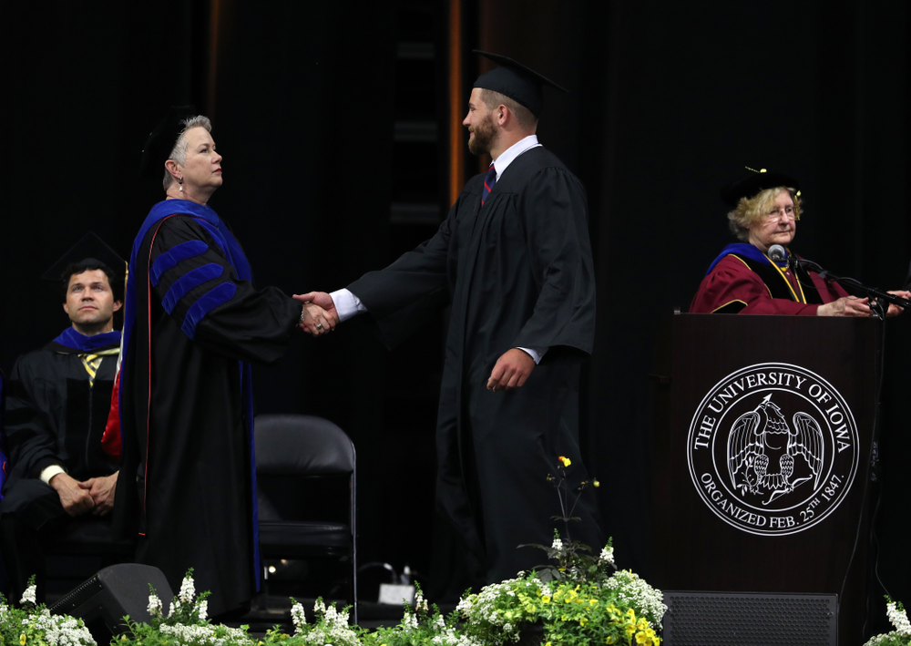 Hawkeye FootballÕs Jackson Subbert during the Tippie College of Business spring commencement Saturday, May 11, 2019 at Carver-Hawkeye Arena. (Brian Ray/hawkeyesports.com)