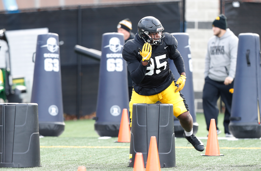 Iowa Hawkeyes defensive lineman Cedrick Lattimore (95)