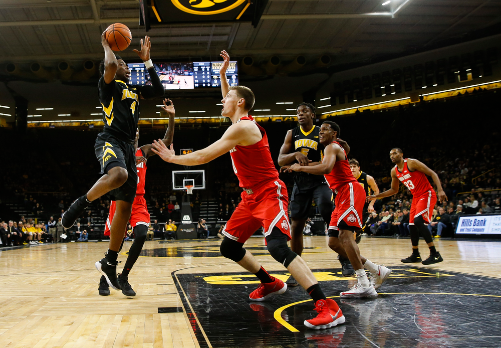 Iowa Hawkeyes guard Isaiah Moss (4)