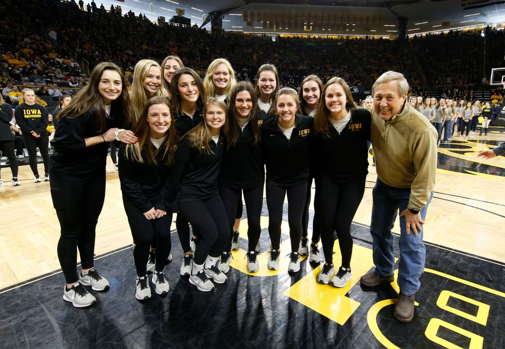 The Iowa Soccer Team with President Bruce Harreld