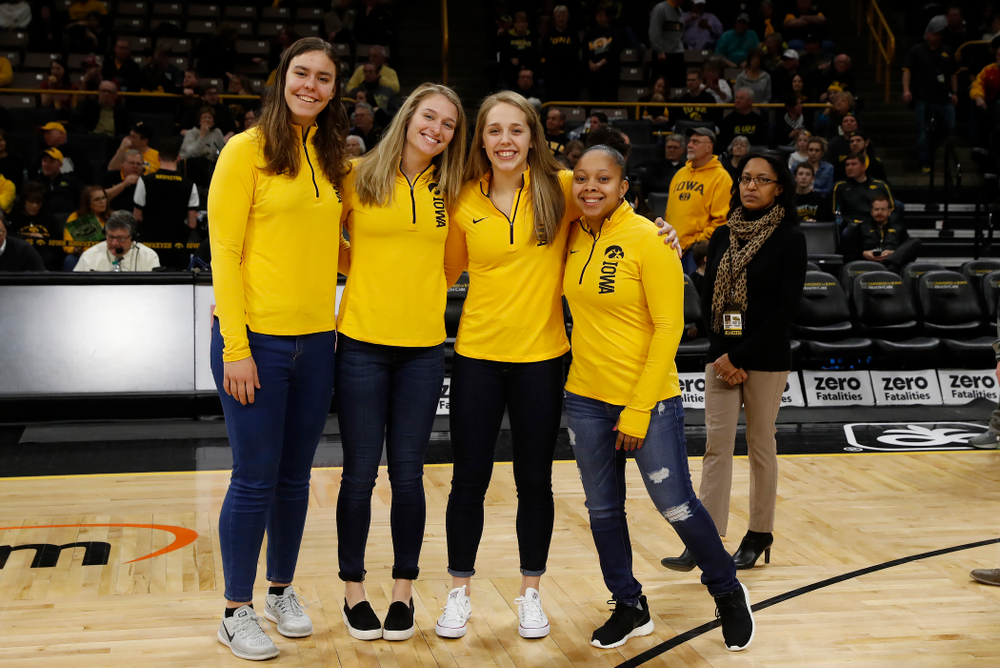 Iowa Women's Basketball during the PCA recognition