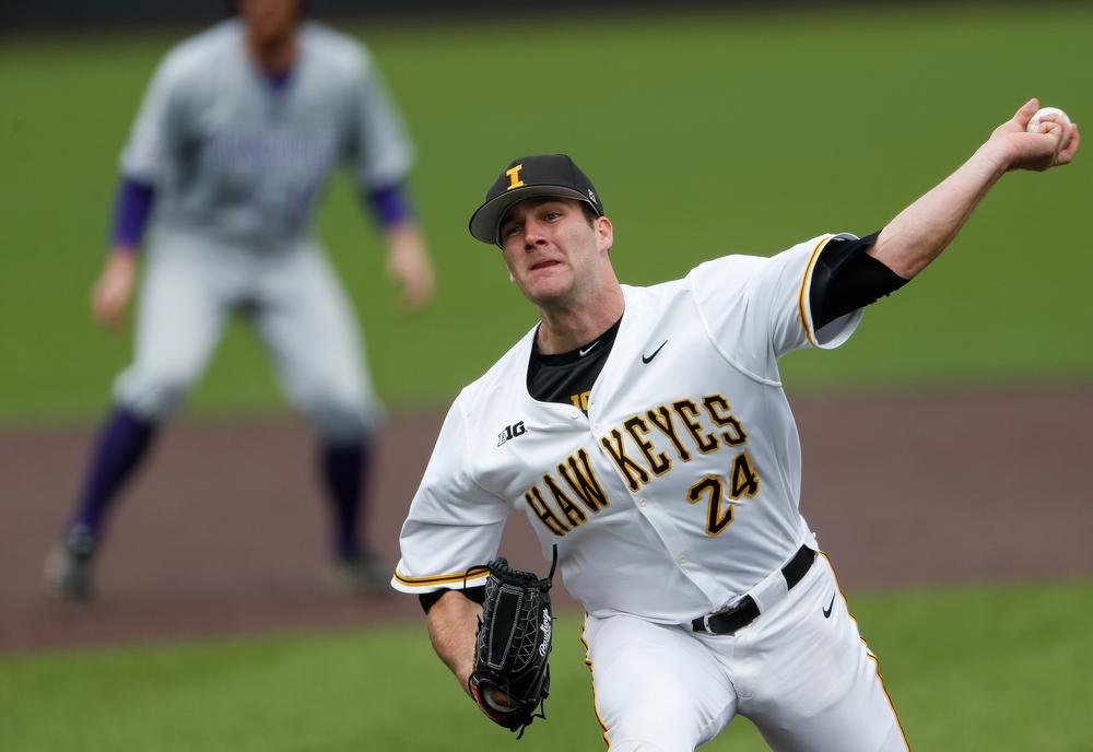 Iowa Hawkeyes pitcher Nick Allgeyer (24)
