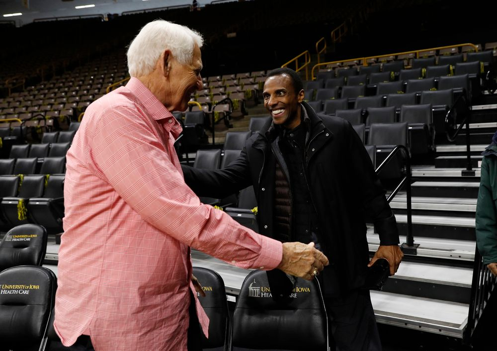 Lute Olson and Ronnie Lester