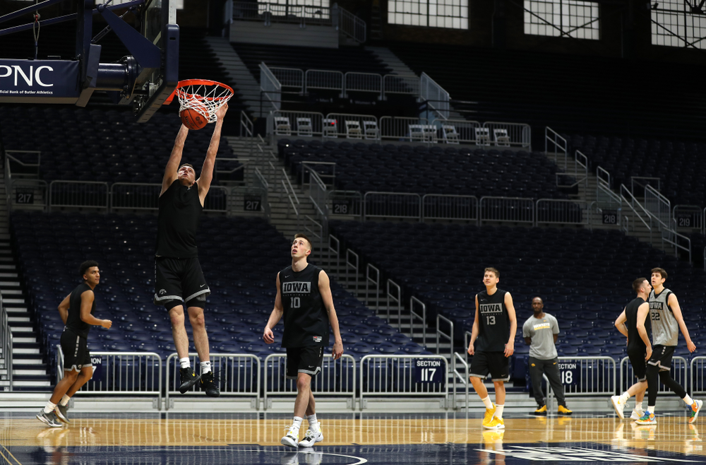 Iowa Hawkeyes guard CJ Fredrick (5) during practice at Hinkle Fieldhouse  Wednesday, March 11, 2020 in Indianapolis. (Brian Ray/hawkeyesports.com)