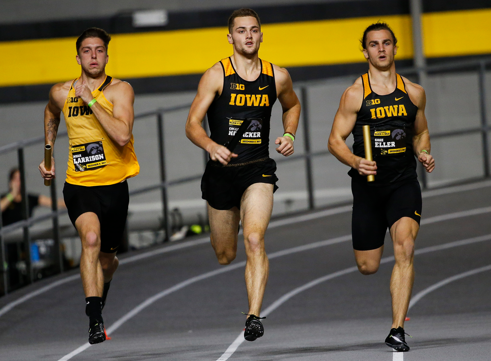 Iowa's Noah Larrison, Collin Hofacker and Gage Eller