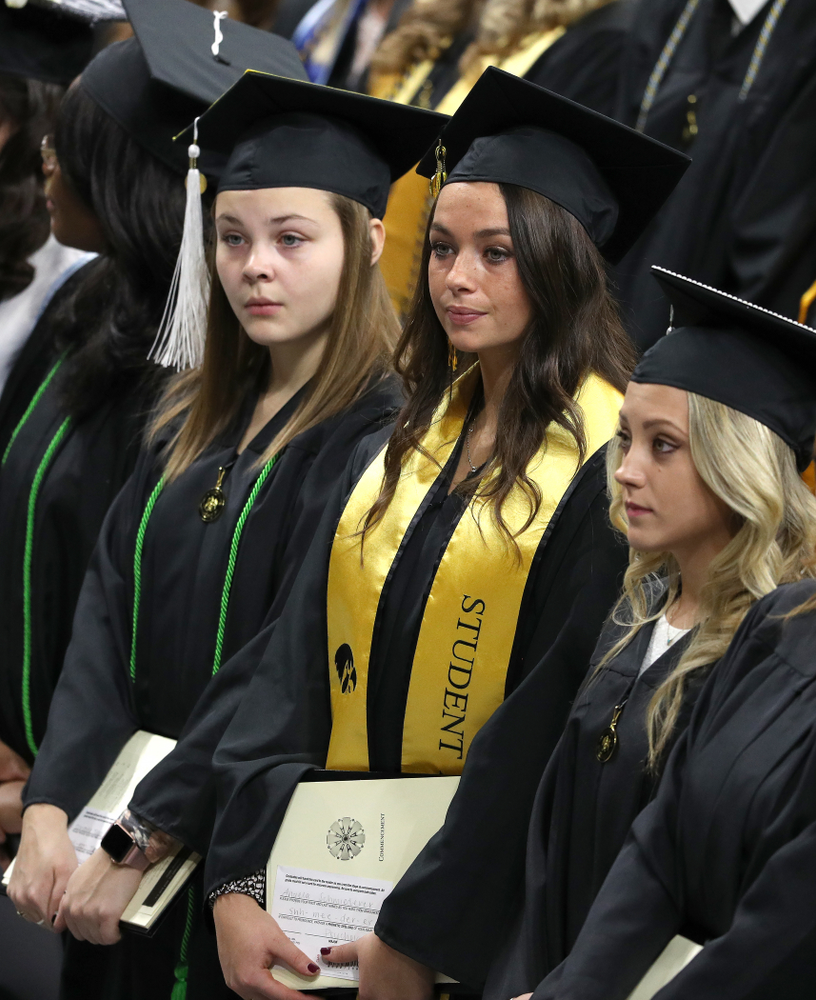 Iowa Softball's Angela Schmiederer during the Fall Commencement Ceremony  Saturday, December 15, 2018 at Carver-Hawkeye Arena. (Brian Ray/hawkeyesports.com)