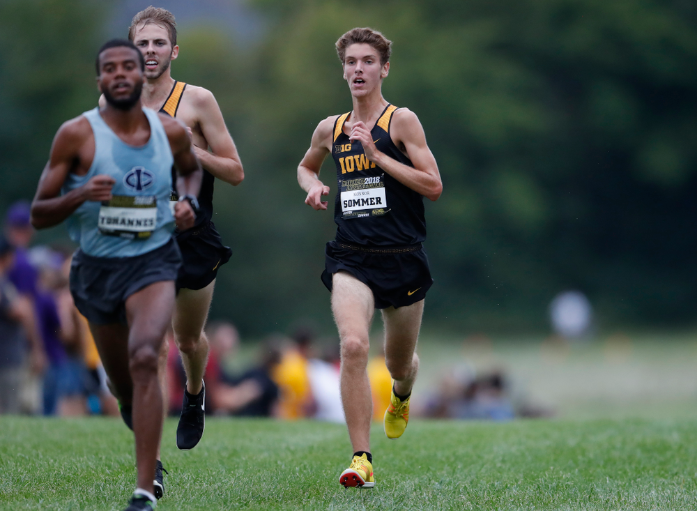 Konnor Sommer during the Hawkeye Invitational Friday, August 31, 2018 at the Ashton Cross Country Course.  (Brian Ray/hawkeyesports.com)