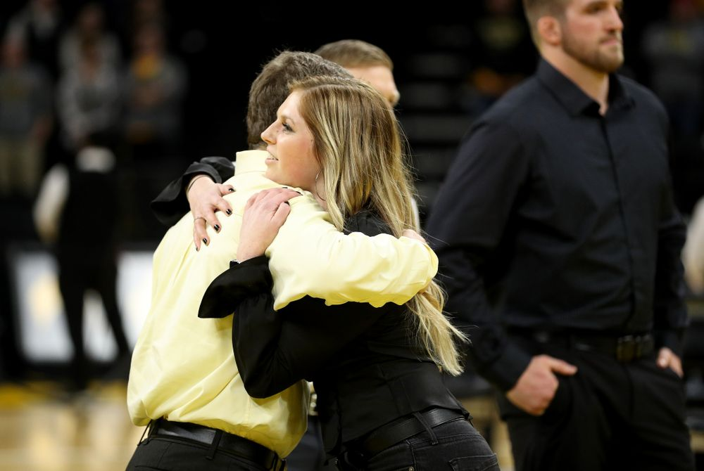 Student manager Ashley Clark during senior day activities Sunday, February 23, 2020 at Carver-Hawkeye Arena. (Brian Ray/hawkeyesports.com)