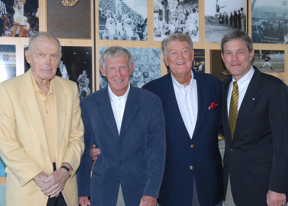 Historic Photos of Hayden Fry with Kirk Ferentz