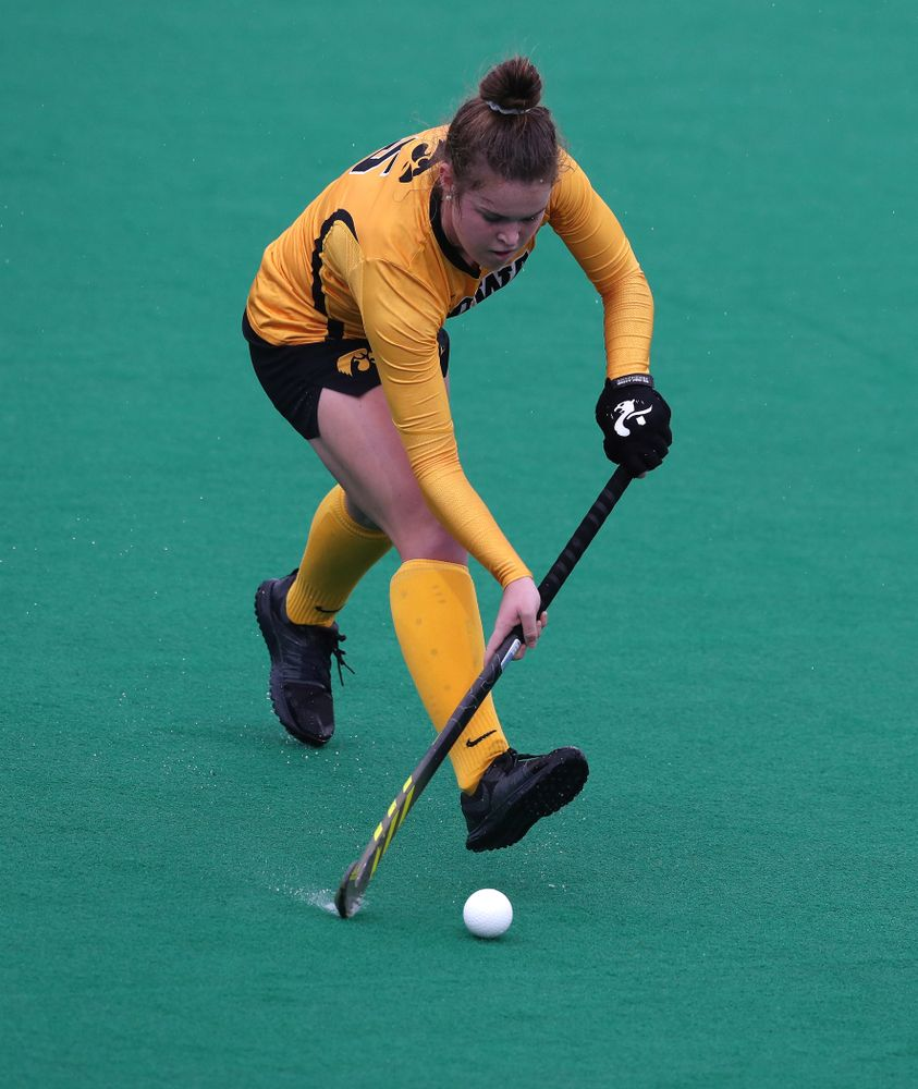 Iowa Hawkeyes Meghan Conroy (5) against Maryland during the championship game of the Big Ten Tournament Sunday, November 4, 2018 at Lakeside Field in Evanston, Ill. (Brian Ray/hawkeyesports.com)