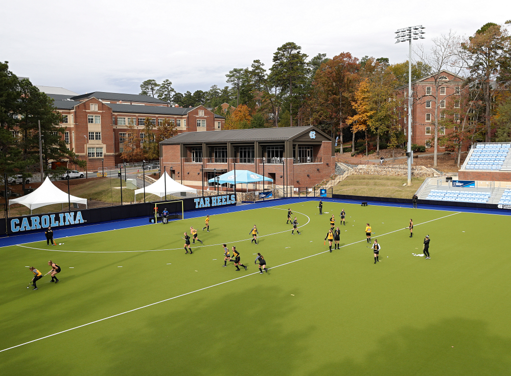 The Iowa Hawkeyes practice at Karen Shelton Stadium in Chapel Hill, N.C. on Thursday, Nov 14, 2019. (Stephen Mally/hawkeyesports.com)